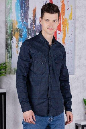 Рубашка Модель: A1-модель. Цвет: синий тёмный. Комплектация: рубашка. Состав: хлопок-70%,полиэстер-27%, эластан-3%. Бренд: Tricko. Фактура: клетка. Посадка: casual.
