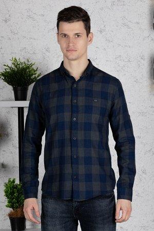 Рубашка Модель: A1-модель. Цвет: хаки. Комплектация: рубашка. Состав: хлопок-100%. Бренд: CE&CE. Фактура: клетка. Посадка: casual.