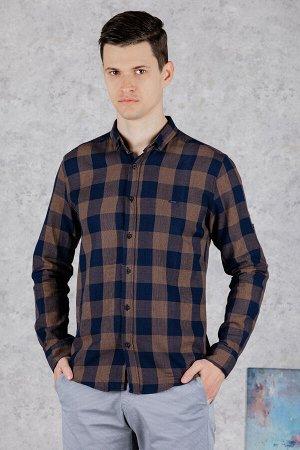 Рубашка Модель: A1-модель. Цвет: кремовый. Комплектация: рубашка. Состав: хлопок-100%. Бренд: CE&CE. Фактура: клетка. Посадка: casual.