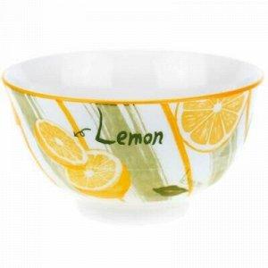 """""""Лимон"""" Пиала фарфоровая 450мл, д12,8х7см, с деколью, отводк"""