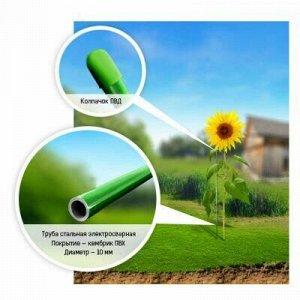 "Подставка под растения ""Колышки"" h0,8м, д10мм, металл, зелен"
