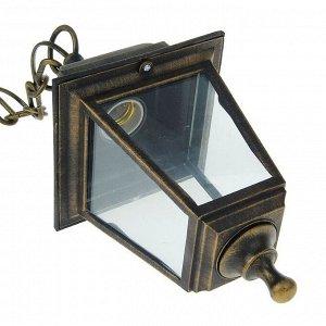 Светильник TDM, садово-парковый, четырёхгранник, подвесной, цвет бронза, SQ0330-0716