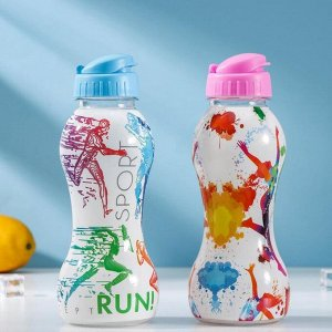 Бутылка QLux «Спортс», 8?21?8 см, цвет МИКС