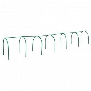 Каркас парника, 6 ? 1 ? 1 м, пластиковая профильная труба 22 ? 22 мм, зелёный