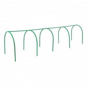 Каркас парника, 4 ? 1 ? 1 м, пластиковая профильная труба 22 ? 22 мм, зелёный
