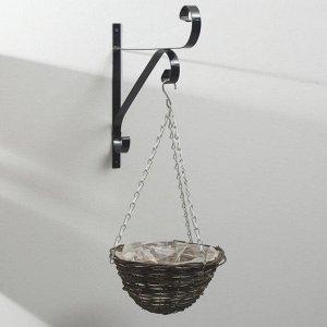 Кашпо подвесное, d = 25 см, плетёное