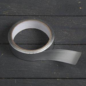 Лента герметизирующая, клейкая, 25 мм ? 10 м, алюминиевая, для поликарбоната от 4 до 8 мм