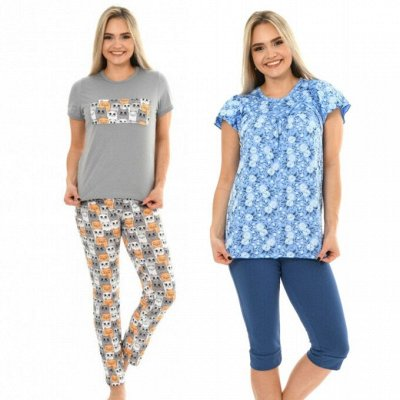 Елена37. Одежда для дома. До 72 размера — Пижамы, комплекты — Домашние костюмы