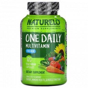 NATURELO, мультивитамины для мужчин, для ежедневного применения, 120 вегетарианских капсул