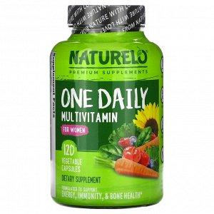 NATURELO, мультивитамины ежедневного применения для женщин,120 вегетарианских капсул
