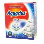 Таблетки для посудомоечной машины AQUARIUS для ПММ All in1  28 таб.