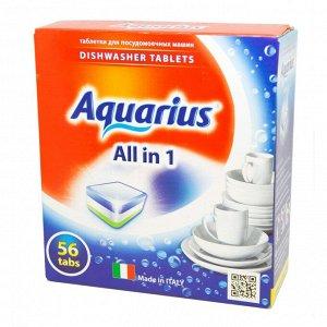 """Таблетки для ПММ """"Aquarius"""" ALLin1 56 штук"""