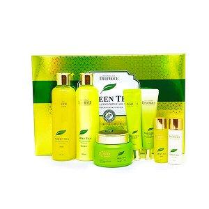 Deoproce premiium green tea total solution 5 set набор для ухода лица с экстрактом зеленого чая