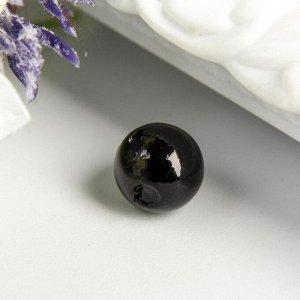 """Бусины """"Астра"""" 8 мм, набор 25 гр, чёрные"""