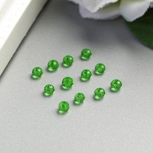 Набор хрустальных бусин, зелёный 2х3 мм, 70-75 шт/упак