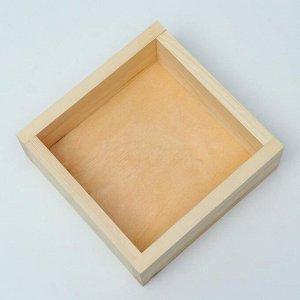 Кашпо деревянное 20?20?7 см