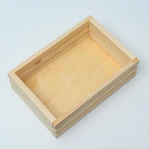 Кашпо деревянное 30?21?9 см, с двойной прорезью, МАССИВ
