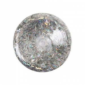 Декоративные блёстки LU*ART Lu*Glitter (сухие), 20 мл, палочки, голографическое серебро