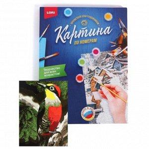 Роспись Набор для творчества раскраска по номерам «Красный дятел»