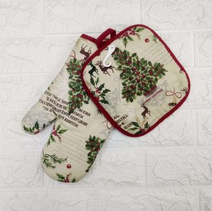 Набор рукавица + прихватка Bonita, Зимний лес