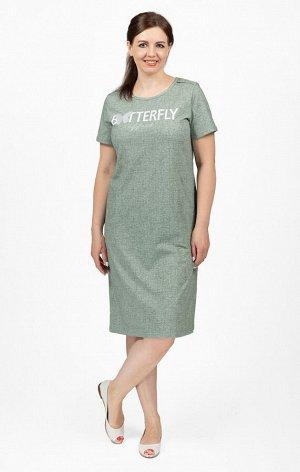 """Платье с карманами, принт """"Batterfly"""" (713-12)"""