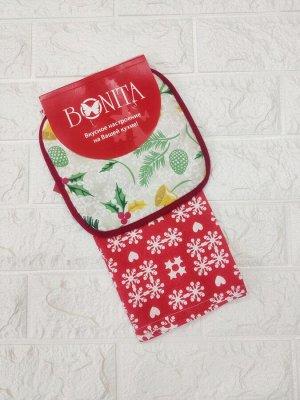 Подарочный набор из полотенца и прихватки Bonita, Новогоднее чудо