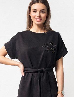 Платье трикотажное из эластичного хлопка