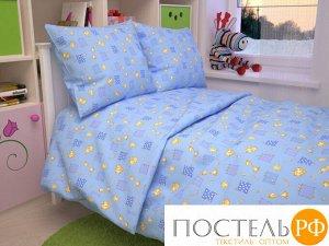 Жирафики(голуб) КПБ бязь 107*140