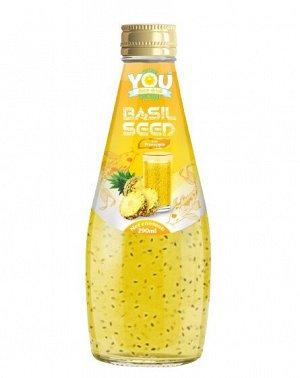 Напиток Ю Вьетнам с соком ананаса и семенами базилика
