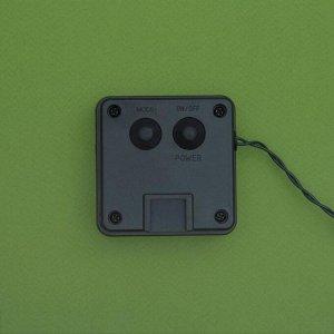 """Гирлянда """"Нить"""", уличная на солнечной батарее """"Роса"""" 12 м, LED-100, 2 режима, нить прозрачная, свечение мульти"""