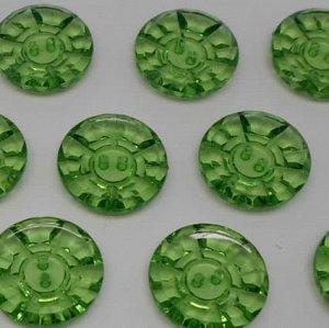 Пуговицы 25 мм, цвет зеленый (10 шт)