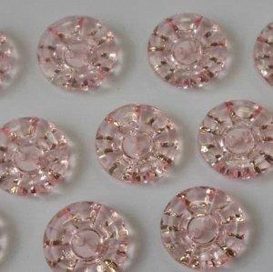 Пуговицы 15 мм, цвет светло-розовый (100 шт)
