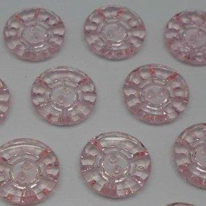 Пуговицы 25 мм, цвет светло-розовый (100 шт)