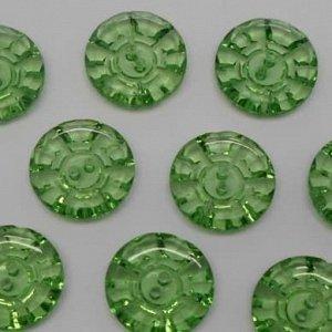 Пуговицы 20 мм, цвет зеленый (100 шт)