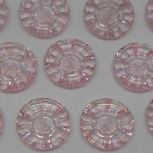 Пуговицы 27 мм, цвет светло-розовый (10 шт)