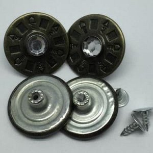 Джинсовые пуговицы №28, 25 мм (50 шт)