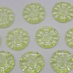 Пуговицы 20 мм, цвет желтый (10 шт)