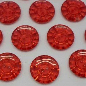 Пуговицы 25 мм, цвет красный (100 шт)