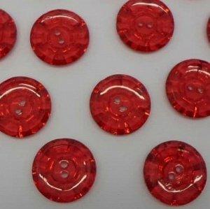 Пуговицы 20 мм, цвет красный (10 шт)
