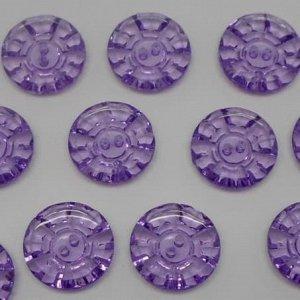 Пуговицы 20 мм, цвет фиолетовый (10 шт)