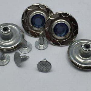 Джинсовые пуговицы №3, 20 мм (50 шт)