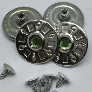 Джинсовые пуговицы №10, 25 мм (50 шт)