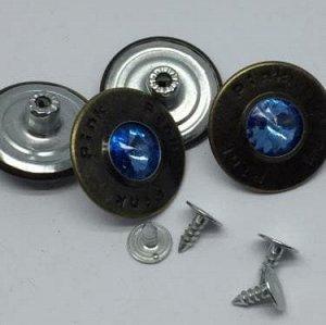 Джинсовые пуговицы №19, 25 мм (50 шт)