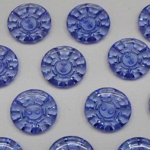 Пуговицы 15 мм, цвет синий (100 шт)