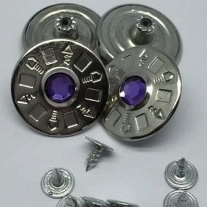 Джинсовые пуговицы №13, 25 мм (50 шт)
