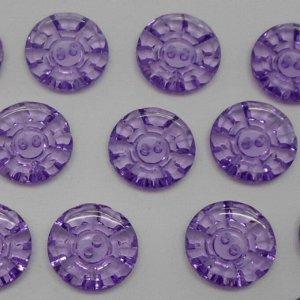 Пуговицы 25 мм, цвет фиолетовый (100 шт)
