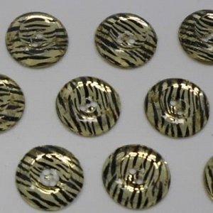 Пуговицы 20 мм, цвет золото (100 шт)