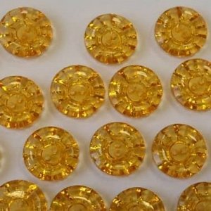 Пуговицы 15 мм, цвет оранжевый (100 шт)