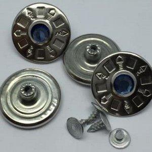 Джинсовые пуговицы №8, 25 мм (50 шт)