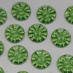 Пуговицы 15 мм, цвет зеленый (100 шт)